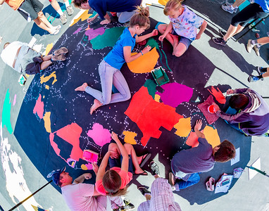 Maverick Colette Eagle Project - Schnell school world map