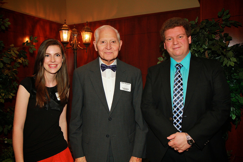 Scholarship Luncheon; Spring 2013. Wade Shepherd with Morgan Bennett and Tom Tharp