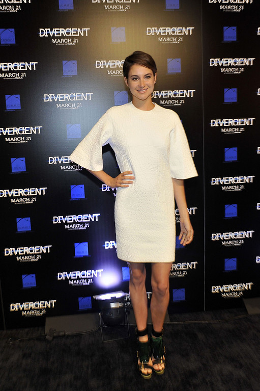 """. Actress Shailene Woodley attends the \""""Divergent\"""" screening at Regal Atlantic Station on March 3, 2014 in Atlanta, Georgia. (Photo by Moses Robinson/Getty Images)"""