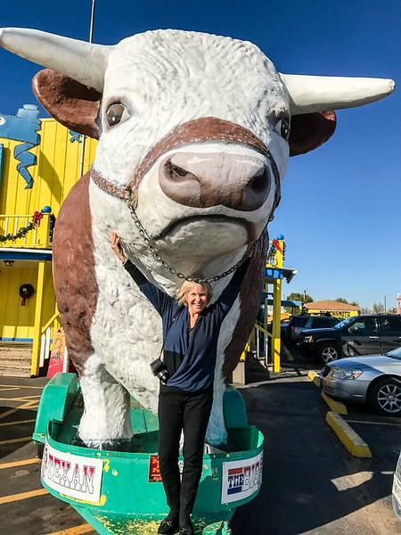 Giant cow statue in Texas