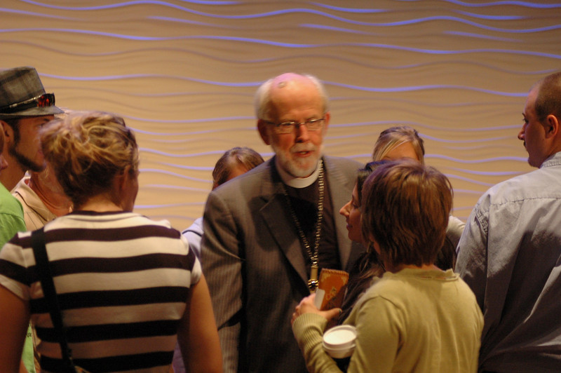 Presiding Bishop Mark S. Hanson following the question and answer period