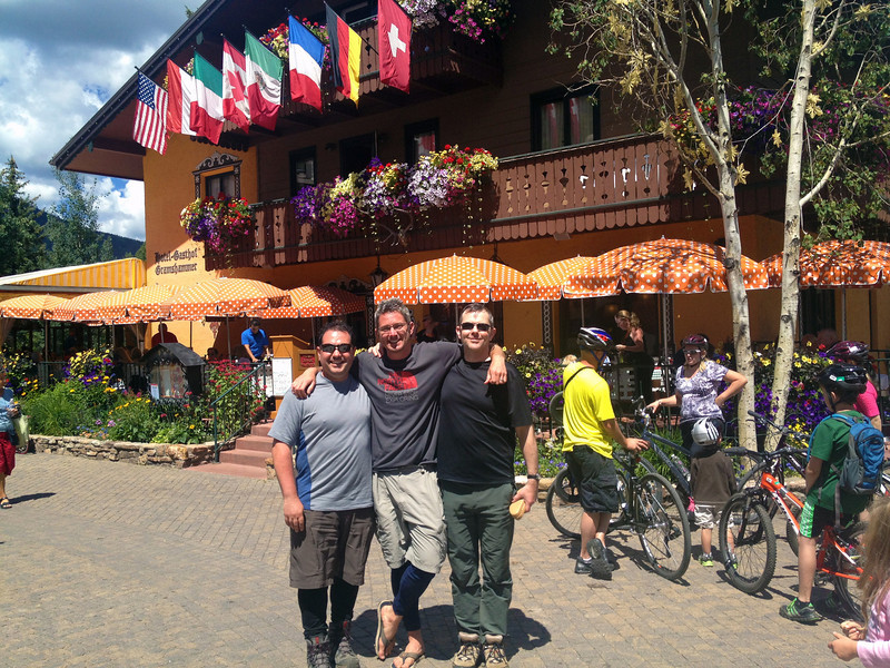 After completing the loop, we headed into Vail Village for a well deserved burger and beer.