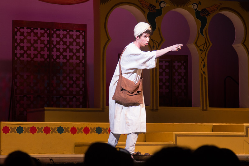"Hajj the Poet (""Fate"") - -- Kismet, Montgomery Blair High School spring musical, April 15, 2016 performance (Silver Spring, MD)"