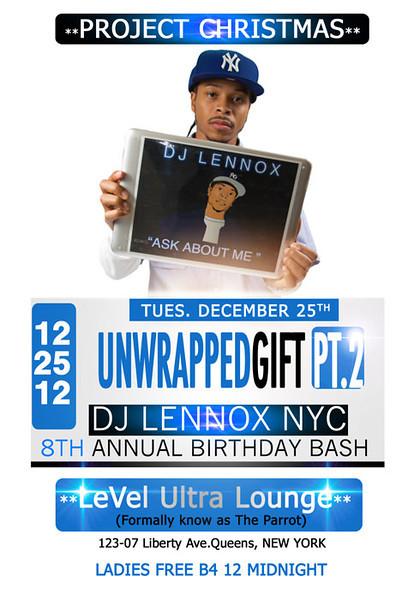 DJ LennoxNYC Birthday Bash @ LeVel Ultra Lounge (12.25.12)
