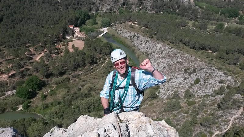 Richard completing the L'Aventador Via Ferrata