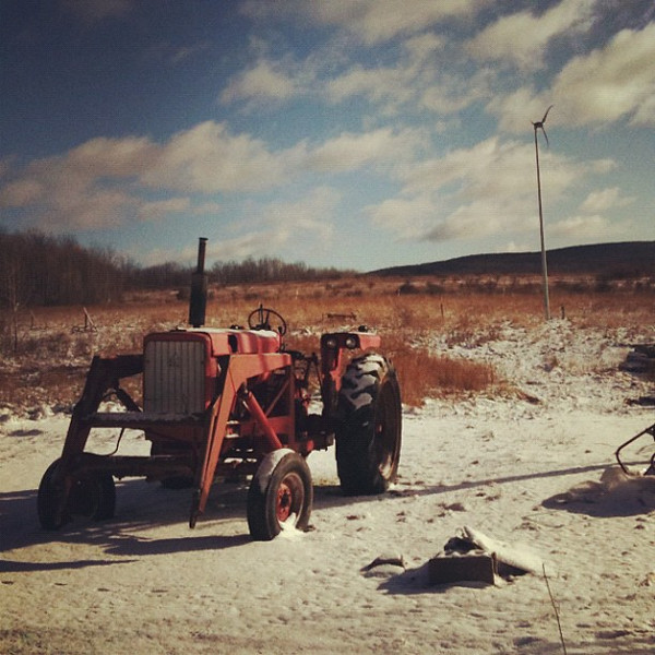 Winter hibernation on the farm.