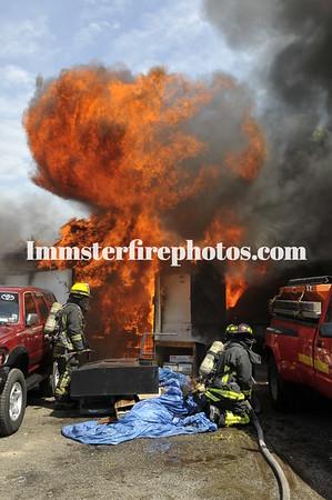 BETHPAGE FD ZORNS GARAGE FIRE