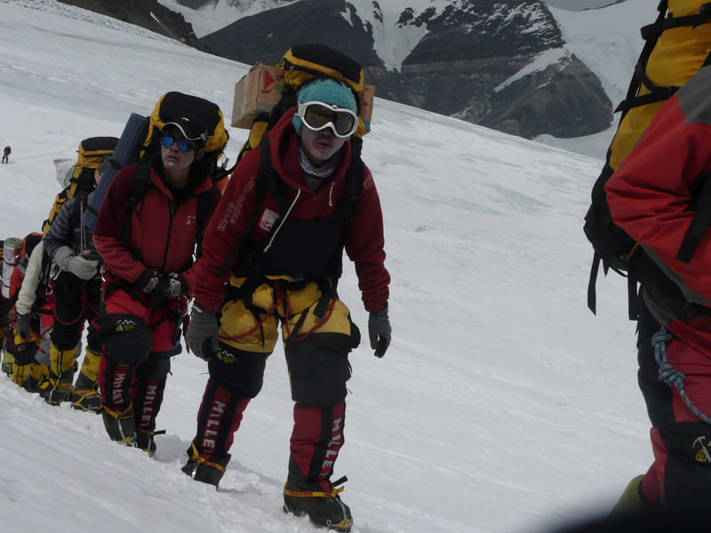 ... to complete fixing the ropes up to the summit.