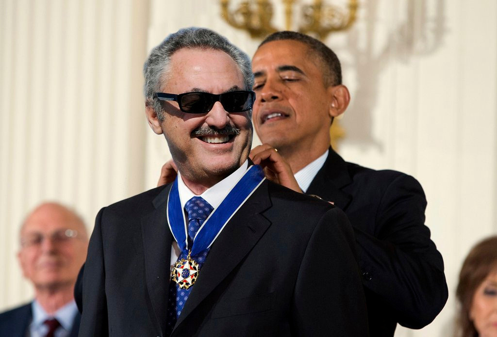. Vikings owner Zygi Wilf receives the Loop Medal of Freedom from President Obama during a faux White House ceremony. (Pioneer Press photo illustration)