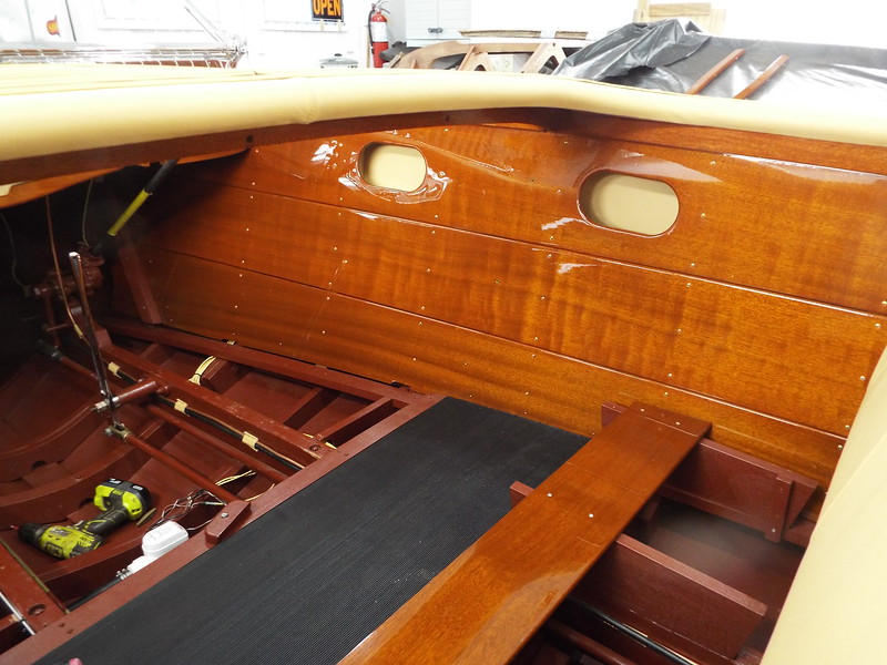 Another picture of the starboard liner installed.