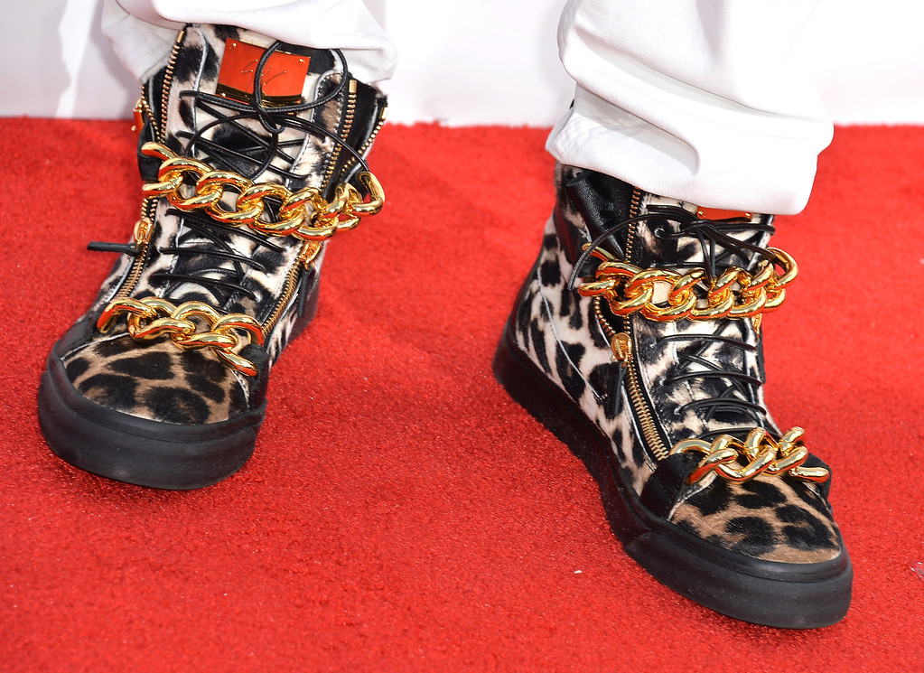 . Rapper 2 Chainz (shoe detail) attends the 2014 Billboard Music Awards at the MGM Grand Garden Arena on May 18, 2014 in Las Vegas, Nevada.  (Photo by Frazer Harrison/Getty Images)