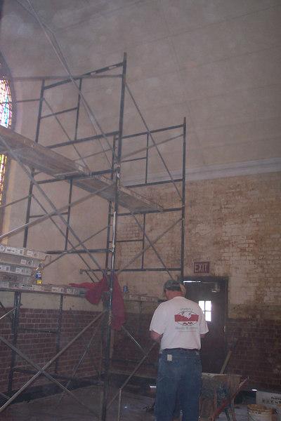Chapel Held in Thomas Gym