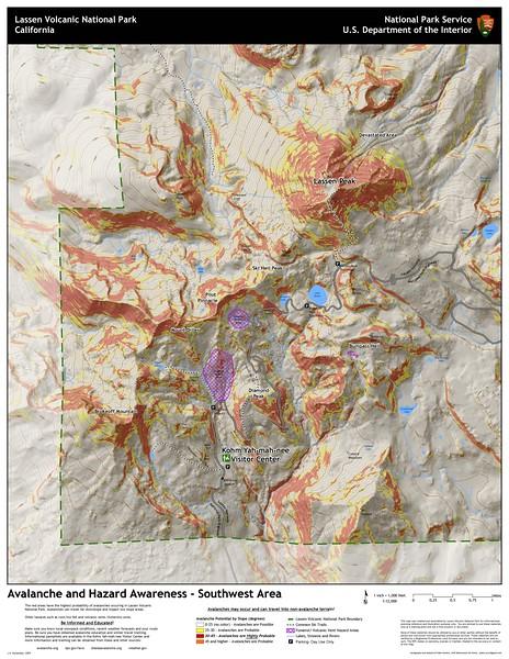 Lassen Volcanic National Park (Avalanche Risk Map)