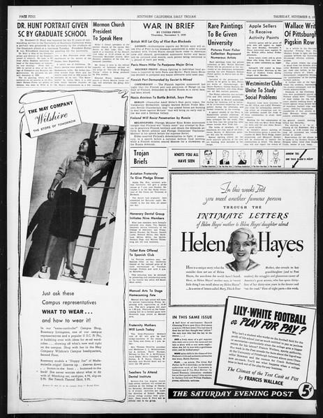 Daily Trojan, Vol. 31, No. 34, November 02, 1939