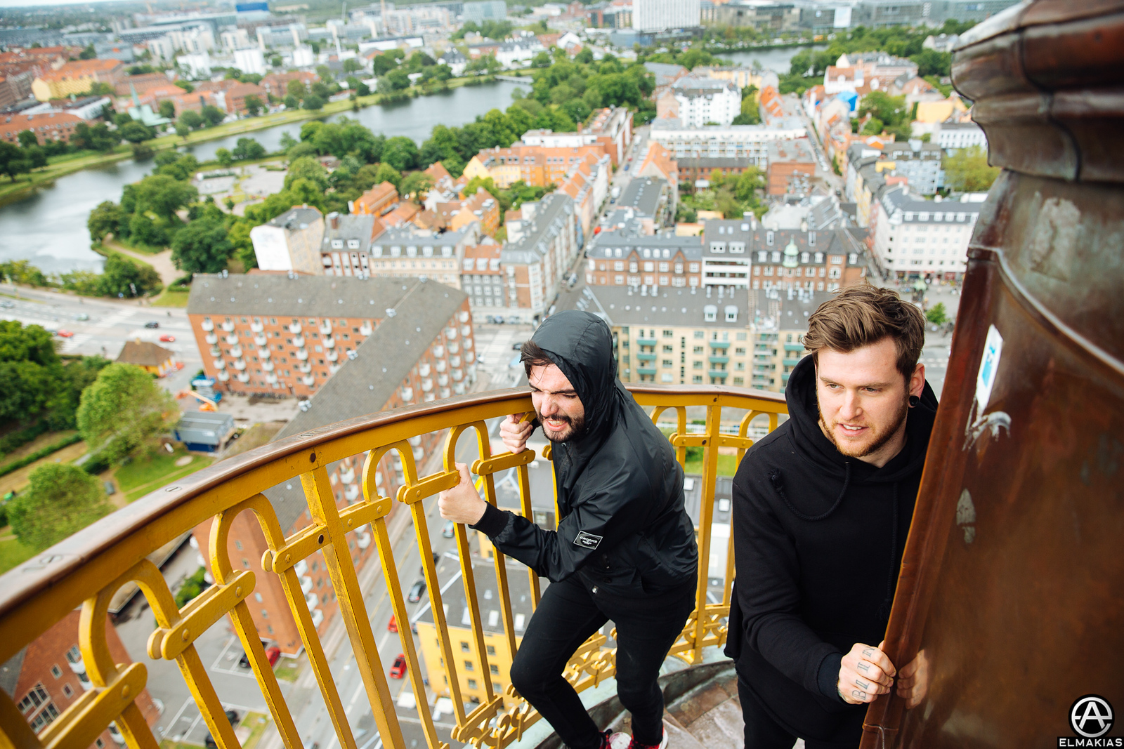Jeremy and Neil of A Day To Remember in Copenhagen, Denmark