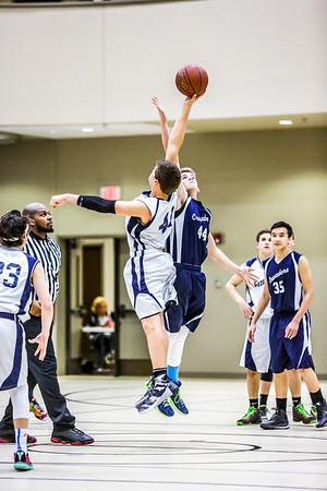 Feb 26 - Basketball - 8th Gr Gold vs Blue