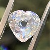 1.06ct Antique Heart Diamond GIA H SI1 1