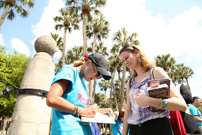 """04-09-14 """"Walk In My Shoes"""" Sexual Assault Awareness Month (SAAM) Event at Flagler College in St. Augustine by Omar Vega"""