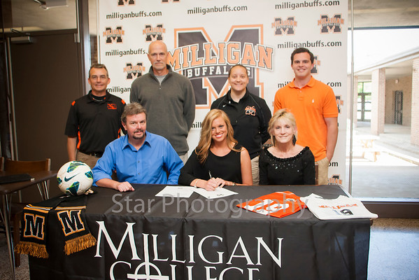 Christine Hardin Signs With Milligan In Soccer 04-30-13
