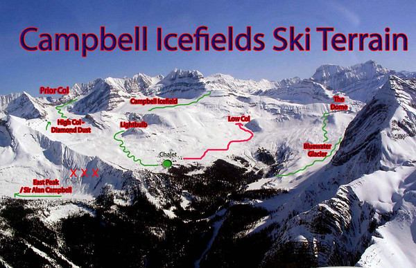 Campbell Icefield Chalet Aerial Photos