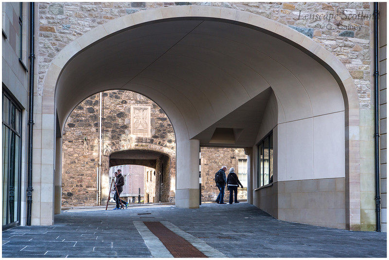 New Waverley entrance archway, Canongate
