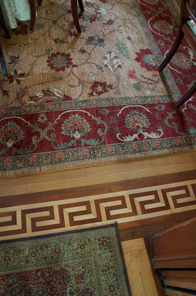 Wiedemann Hill Mansion - Inlaid floor and carpet details