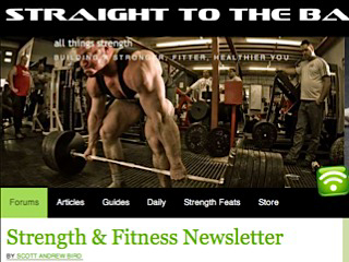 The Strength & Fitness Newsletter.