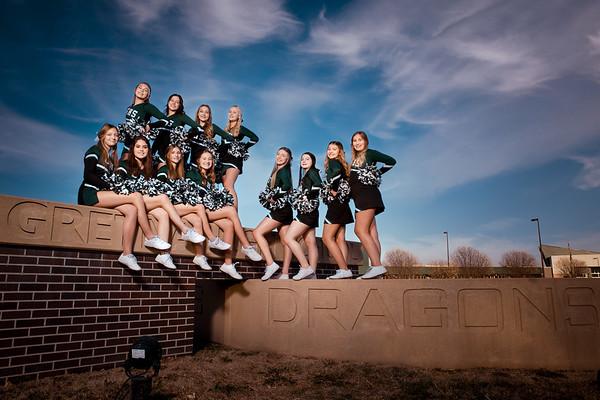 Gretna JV Cheerleaders 2020