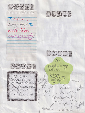 Affirmation Page shots