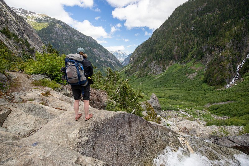 Overlooking the Stehekin headwaters basin