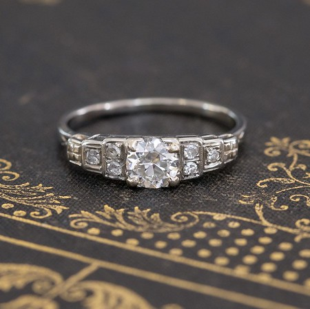 .64ctw Vintage Transitional Cut Diamond Band