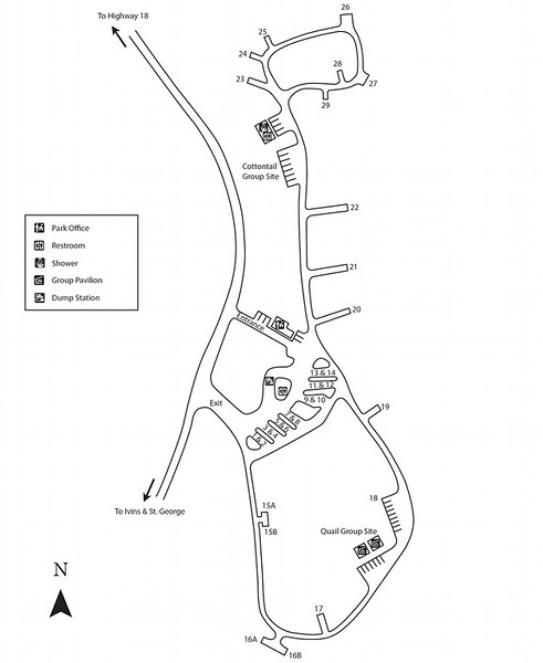 Snow Canyon State Park (Campground Map)