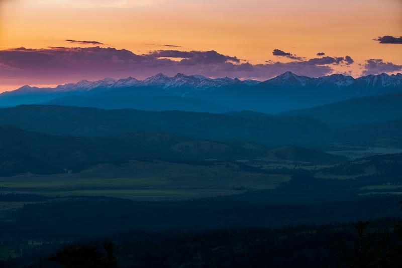 Purple Montana mountains