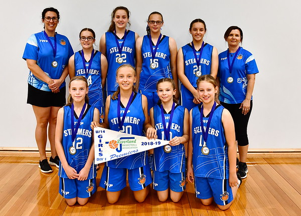 """U14"" Girls PREMIERSHIP Team Photo Renmark"