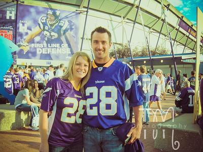 MN Vikings Game - 3rd ROW | 8.27.11