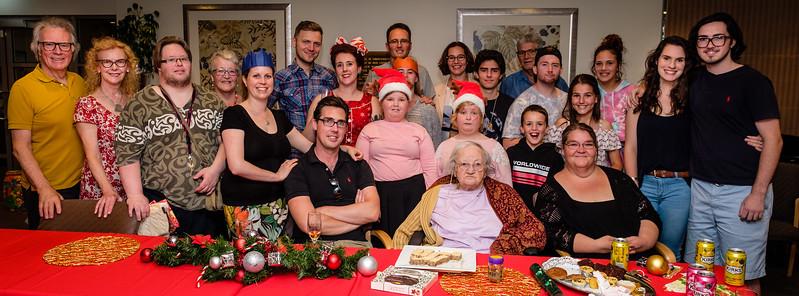 Christmas Eve 2017 at mum's new home at Arcadia.