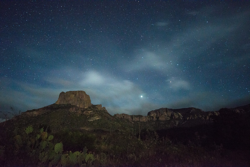 Casa Grande in the Moonlight