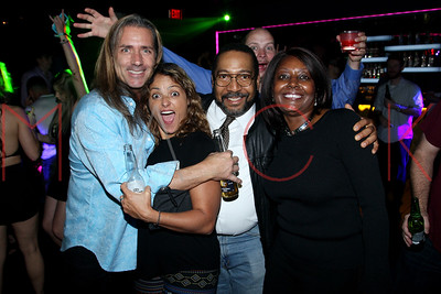 """ATLANTIC CITY, NJ - OCTOBER 14:  """"The Samaritans"""" movie cast and crew celebration during the 10th Annual Atlantic City Cinefest Film Festival on October 14, 2017 at Anthem Nightclub in Atlantic City, New Jersey."""
