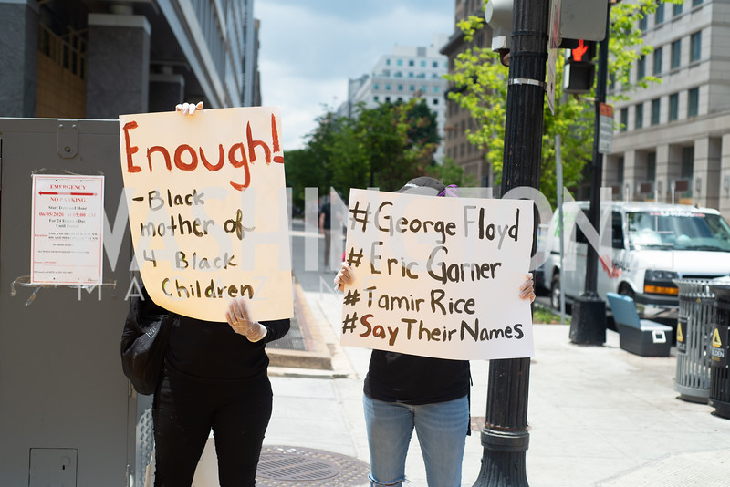 Police Brutality Protest 1. Photo by Yasmin Holman. Washington DC. June 5, 2020.