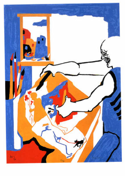 Jacob Lawrence, <em>Artist in Studio</em> (1994)