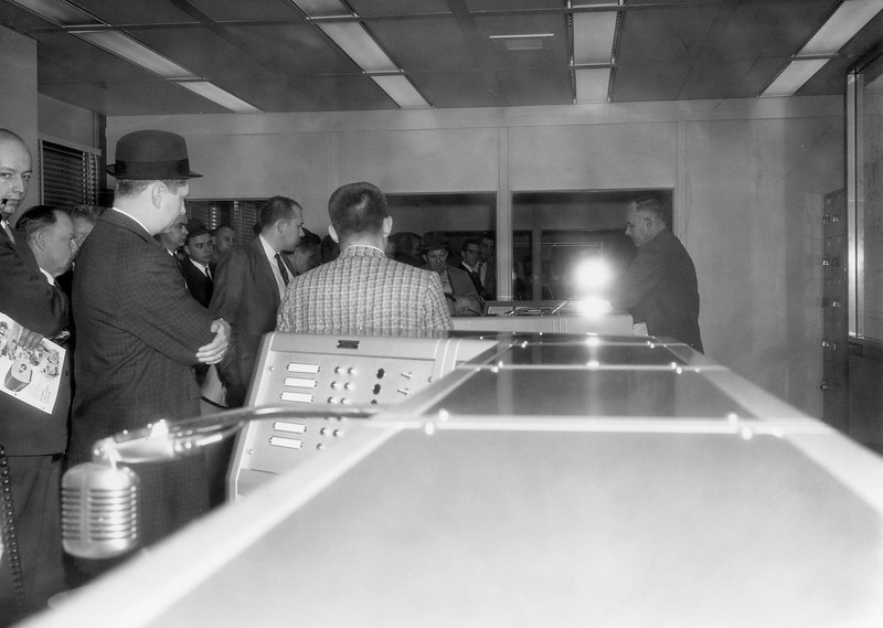 December 3 1962 FOP tour of new Police HQ - Comm Center