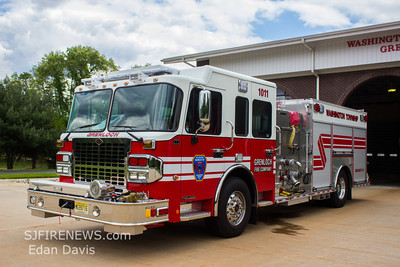 Grenloch Fire Co. (Gloucester County NJ), New Engine 10-11 and Tower 10-16.