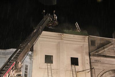 Fire Response, West Center Street, Mahanoy City (5-23-2013)