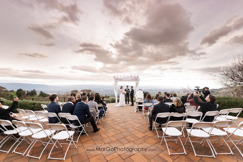 wedding ceremony at Mt Hamilton GrandView Restaurant in San Jose
