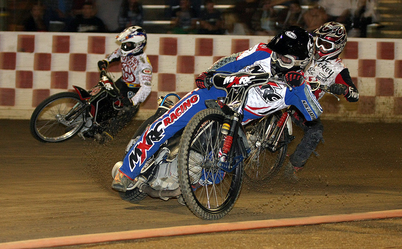 Billy Janniro leads Bart Bast (L) and Bryce Starks (R)