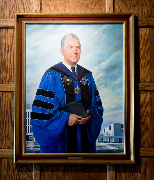 Alan Rankin president portrait in Heritage Lounge