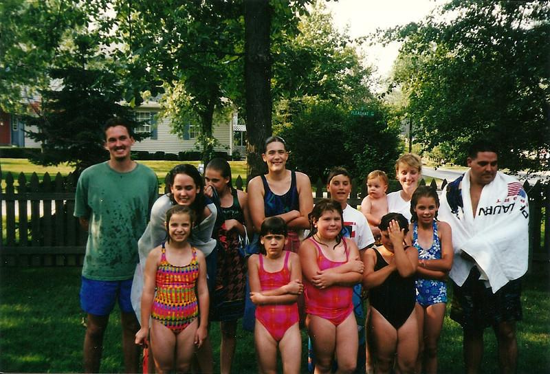 All Cerne Grandchildren present (plus Caleb,the first great-grandchild)     7/98