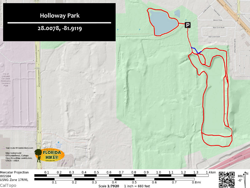 Holloway Park Trail Map