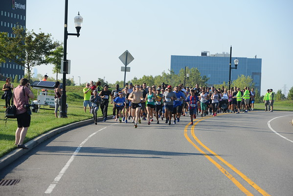Race Start Line of 5K and Walk