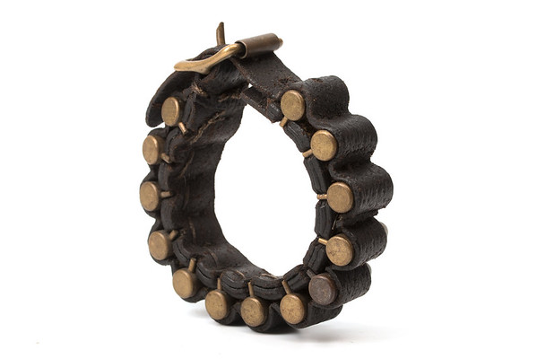 Bracelet made for carrying pinfire cartridges